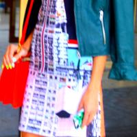 Bold Move: Graphic Print Dress